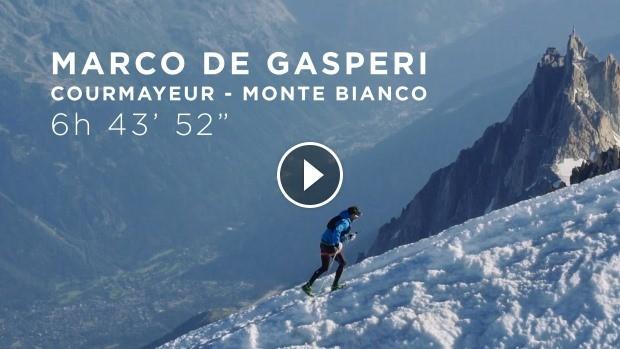 vid 233 o du record de l ascension du mont blanc au d 233 part de courmayeur par marco de gasperi