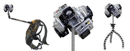 La caméra 360° de Guillaume, dans diverses configurations